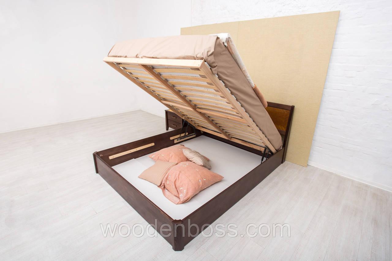 Кровать двуспальная Сити с подъемным  механизмом 180х190/200