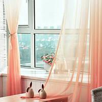 Тюль шифон  Растяжка розовый , высота 2.8м