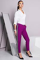 Стильные брюки цвета фуксия с лампасом