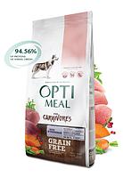 Беззерновой сухой корм OPTIMEAL (ОПТИМИЛ) для собак всех пород- (Grain Free) с уткой и овощами 10КГ