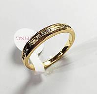 Кольцо под обручальное с камнями, размер 19. 20  ювелирная бижутерия XP