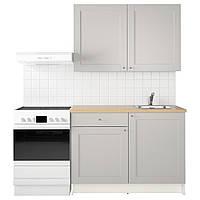 Кухня модульная KNOXHULT 120x61x220 см серая