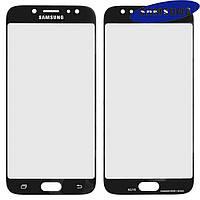 Стекло корпуса для Samsung J730F Galaxy J7 (2017), черное, оригинал