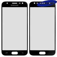 Стекло корпуса для Samsung Galaxy J3 (2017) J330F, черное, оригинал