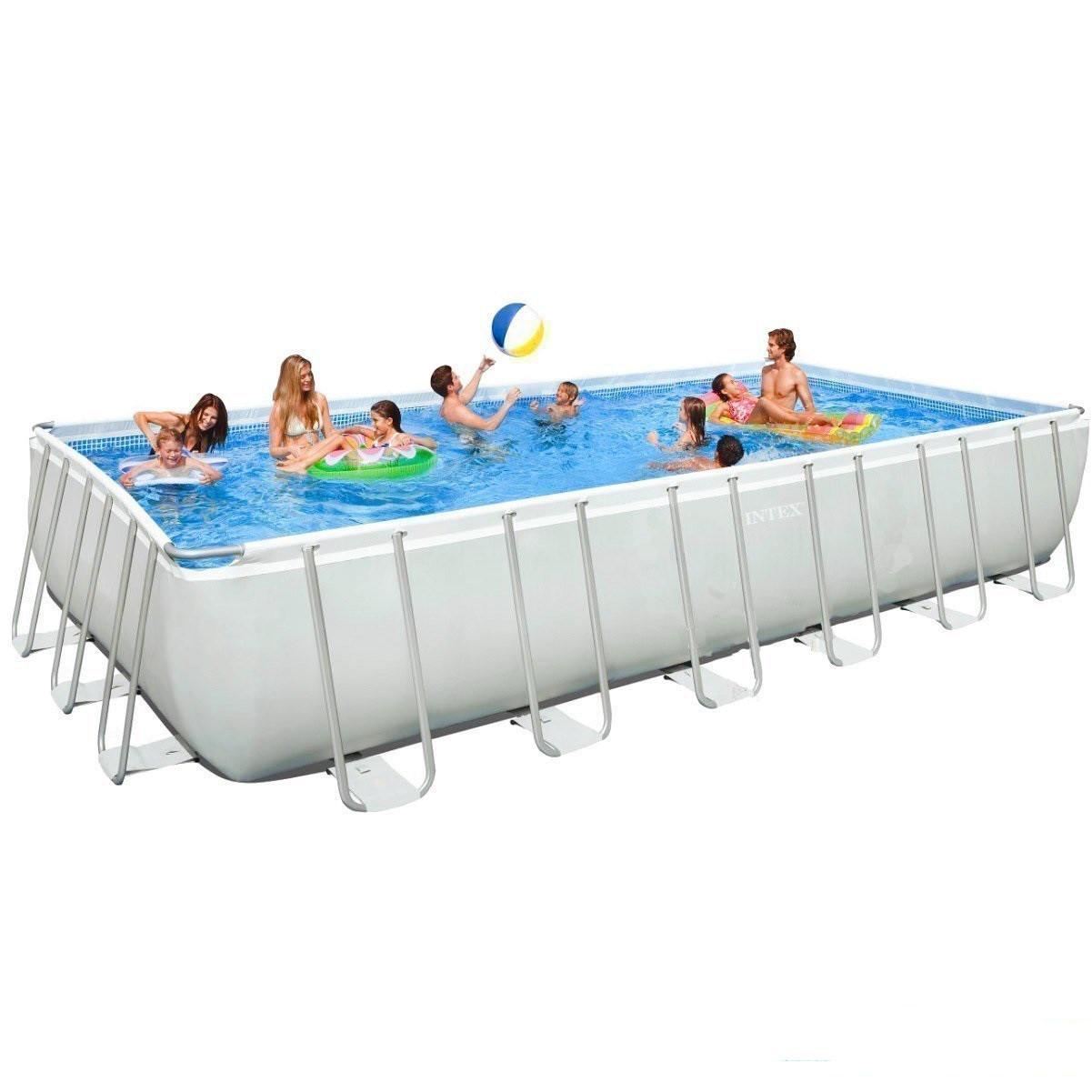 Каркасный бассейн Intex 28364-4  28366-4. Ultra Frame Rectangular Pool 732 х 366 х 132 см Басейн прямоугольный