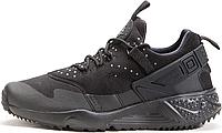 Мужские кроссовки Nike Air Huarache Utility Black (Найк Аир Хуарачи) черные