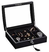 Шкатулка для хранения часов и украшений Rothenschild RS-3034-BGB
