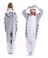 Пижама кигуруми серая кошка kigurumi L