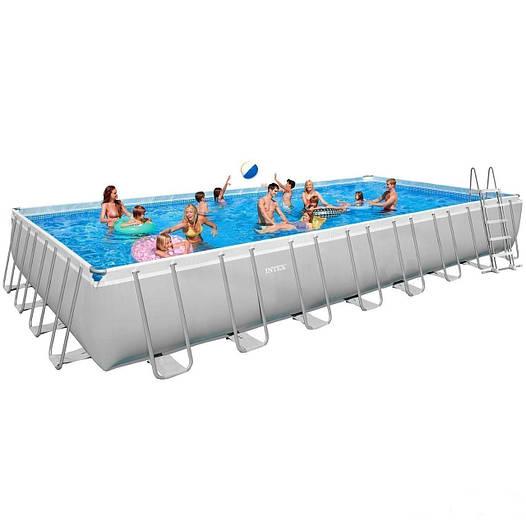 Каркасный бассейн Intex 28372-4  54990. Ultra Frame Rectangular Pool 975 х 488 х 132 см