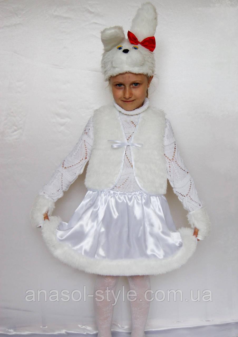 Карнавальний костюм білий Зайчик №1