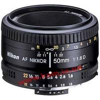 Объектив Nikon 50 mm f/ 1.8D AF NIKKOR Компактный нормальный объектив. (JAA013DA)