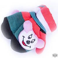 Варежки детские цветные с мягкой игрушкой Shust Gloves