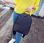 Рюкзак женский чёрный с фурнитурой Весна 2019, фото 4