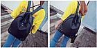 Рюкзак женский чёрный с фурнитурой Весна 2019, фото 5