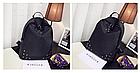 Рюкзак женский чёрный с фурнитурой Весна 2019, фото 7