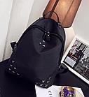 Рюкзак женский чёрный с фурнитурой Весна 2019, фото 8