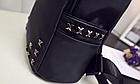 Рюкзак женский чёрный с фурнитурой Весна 2019, фото 10