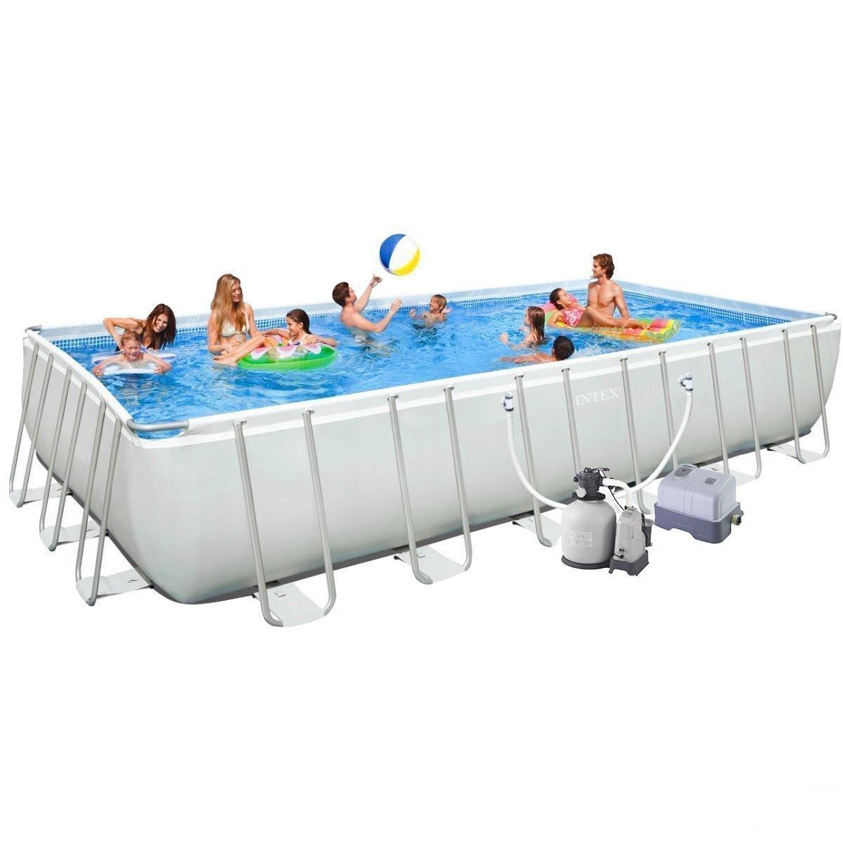 Каркасный бассейн Intex Ultra Frame Rectangular Pool 732х366х132 см Басейн прямоугольный