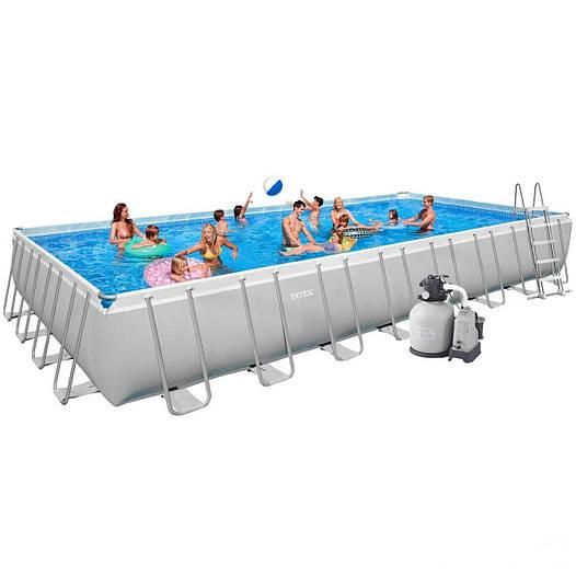Каркасный бассейн Intex 28376  28374  54988. Ultra Frame Rectangular Pool 975 х 488 х 132 cм