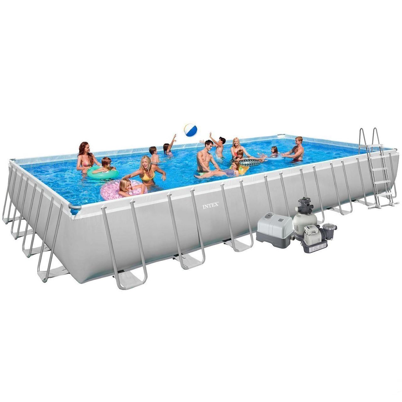 Каркасний басейн Intex Ultra Frame Rectangular Pool 975х488х132 см прямокутний Басейн