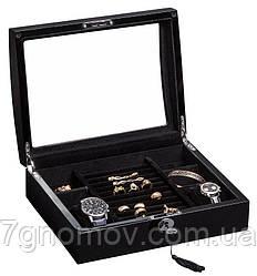 Шкатулка для хранения часов и украшений Rothenschild RS-3034-BB