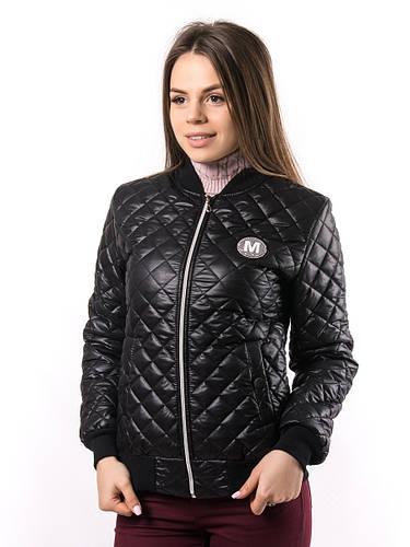 ffea0676590 Женская черная куртка-бомбер пр-во Украина KD382 оптом и в розницу ...