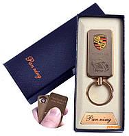 """USB зажигалка-брелок в подарочной упаковке """"PORSCHE"""" (Спираль накаливания) №4811-4"""