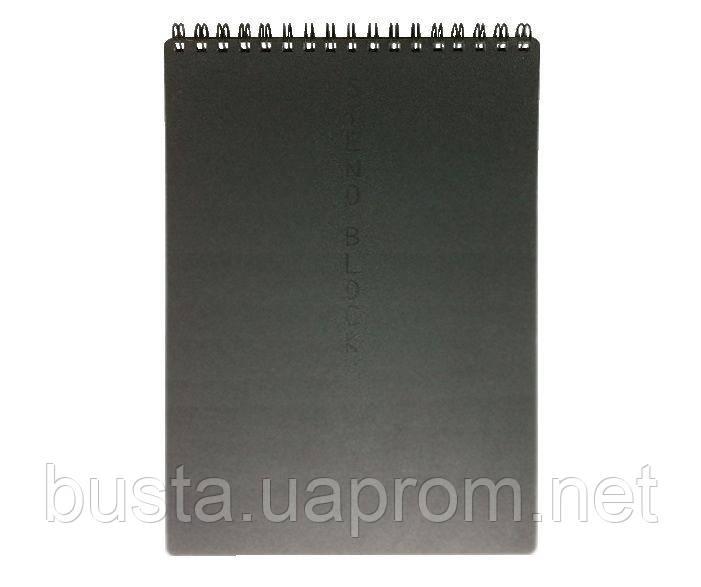 Блокнот А5 STENO BLOCK 60л темно-серый