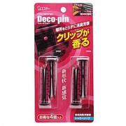 """Автомобільний дезодорант-ароматизатор для кондиціонера з ароматом свіжості """"ST"""" """"DECO-PIN"""" 4 шт"""
