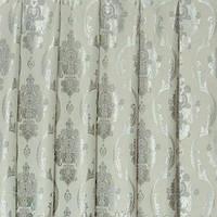 Ткань для штор  блэкаут  Империя молочный+серебро