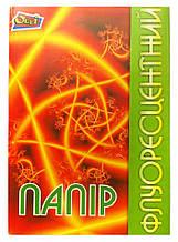 Бумага цветная флуоресцентная 12 листов 6 цветов А4