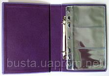 Визитница на 90 визиток кожзам Узор Optima, фото 2