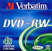 Диск DVD-RW Verbatim Slim Color