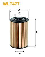 Фильтр масляный HYUNDAI ELANTRA, i20, i30, KIA SOUL, CEED WL7477/OE674/5 (Производство WIX-Filtron) WL7477
