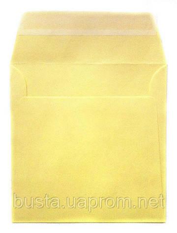 Конверт К8 бледно-желтый с клейкой лентой, фото 2