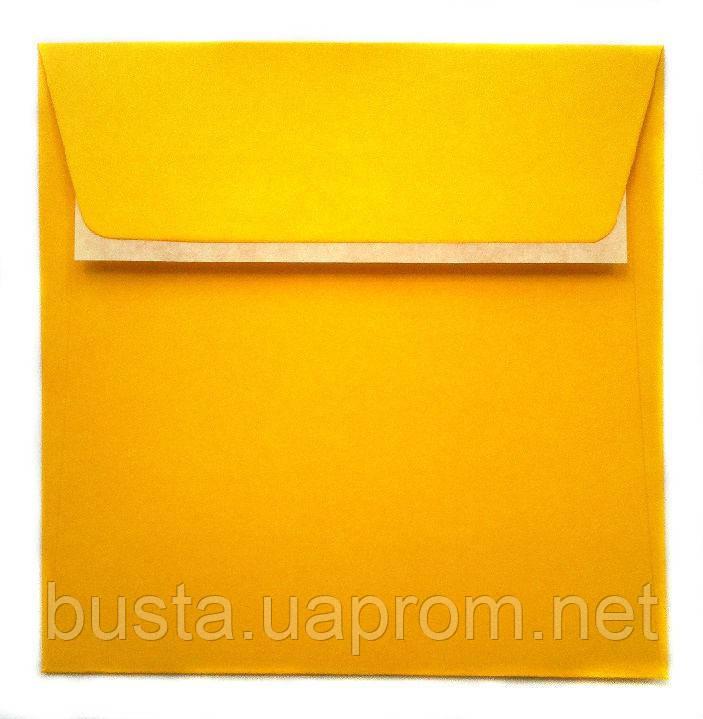 Конверт К8 с клейкой лентой ярко-желтый