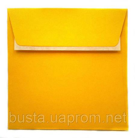 Конверт К8 с клейкой лентой ярко-желтый, фото 2