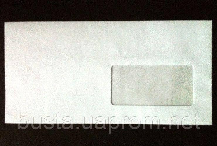 Конверт евро белый с окном мк Е65