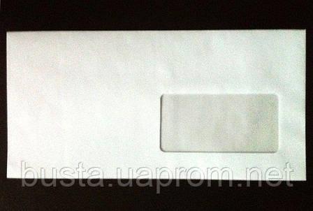 Конверт евро белый с окном мк Е65, фото 2