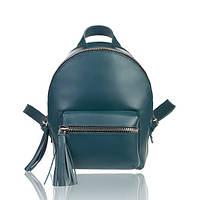 Рюкзак кожаный изумрудный матовый, фото 1