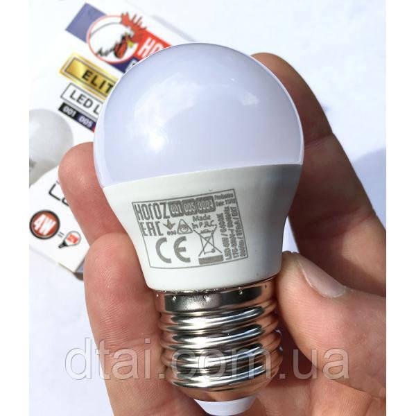 Лампа диодная Е27 4W ELITE-4 4200/6000K Horoz Electr