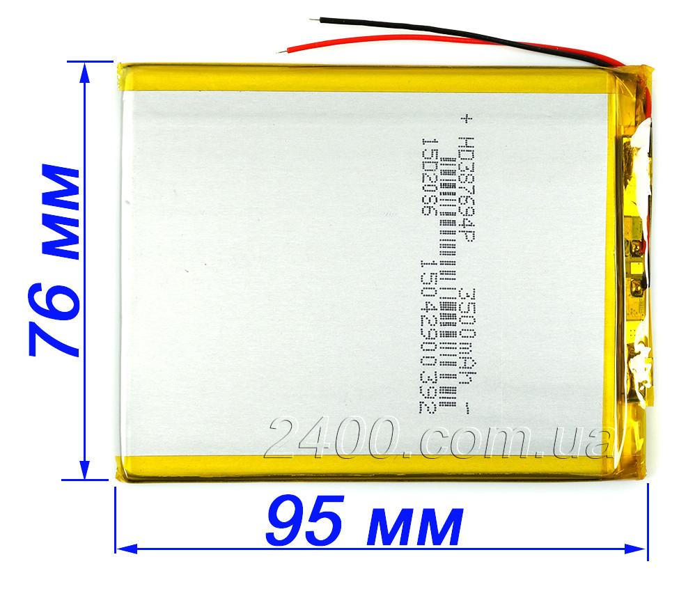 Аккумулятор 3500 мАч 357695 для планшета Bravis, Nomi, X-Digital Tab, Jeka, Impression ImPAD 3.7v (3500 mAh)