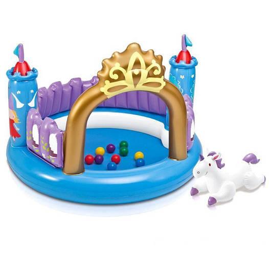 Детский надувной центр Intex 48669 «Магический замок», 130 х 91 см, с шариками 10 шт и игрушкой