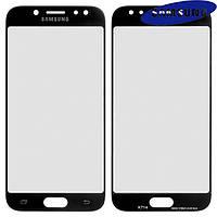 Стекло корпуса для Samsung J530F Galaxy J5 (2017), с OCA-пленкой, черное, оригинал