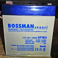 Аккумулятор 12V 4Ah Bossman profi  6FM4 - LA1240, фото 1