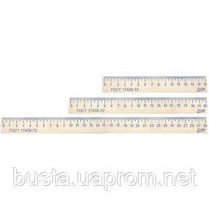 Линейка деревянная (бук) 15см
