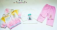 Трикотажный  костюмчик  для девочки на 2,3,4 года