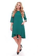 Платье  Милана бутылочного цвета