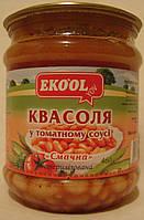 Фасоль консервированная в томате EKO`OL 460гр