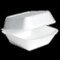 Ланч-бокс для сендвичей с крышкой 150x141x72   P2867 вспененный полистирол
